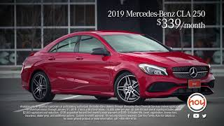 2019 Mercedes-Benz CLA 250 $339/mo Lease Special - January 2019