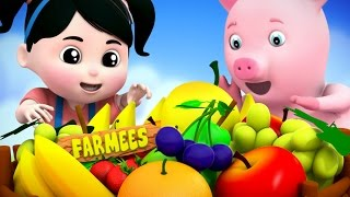 Fruits Song  3D Rhymes  Farmees Nursery Rhymes  Video For Kids And Babies