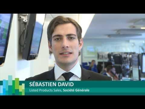 Sébastien David de la Société Générale ouvre les marchés boursiers à Paris