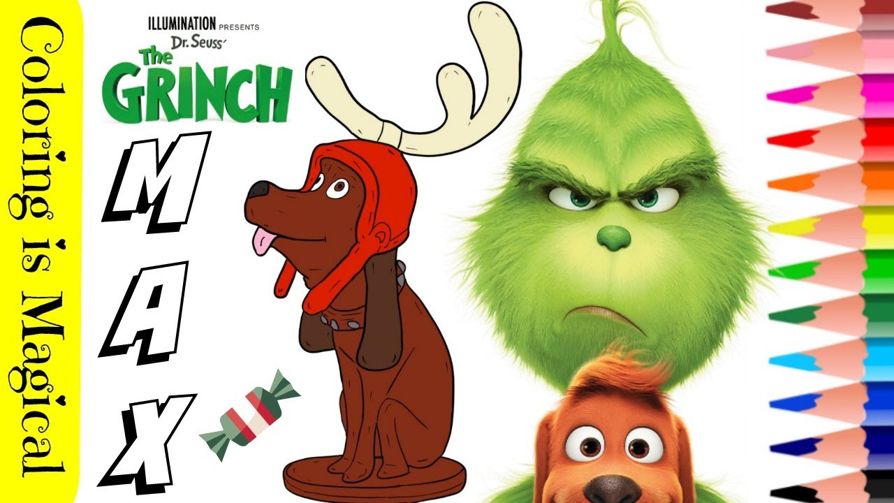 MAX DOG The Grinch movie 2018 COLORING PAGE How to Draw la