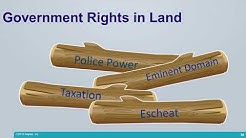Real Estate Exam Prep: Government Rights in Private Land