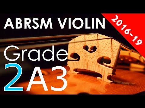 2016 - 2019 Grade 2 A:3 A3 ABRSM Violin Exam - Rigaudon, Z. 653, arr. Forbes - Purcell