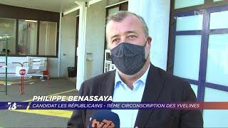 Yvelines | 7/8 Le Journal (extrait) – Déplacement de Philippe Benassaya à l'hôpital privé de Trappes
