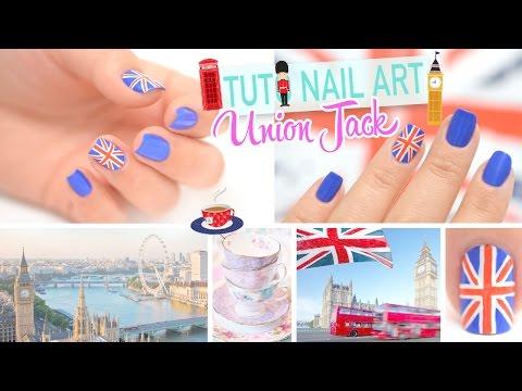 Tuto Nail art ♡ Londres Union Jack