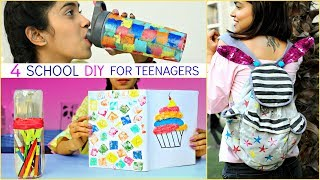 4 Smart DIY for SCHOOL Supplies/TEENAGERS ... | #Hacks #LifeHacks #Crafts #Anaysa #DIYQueen