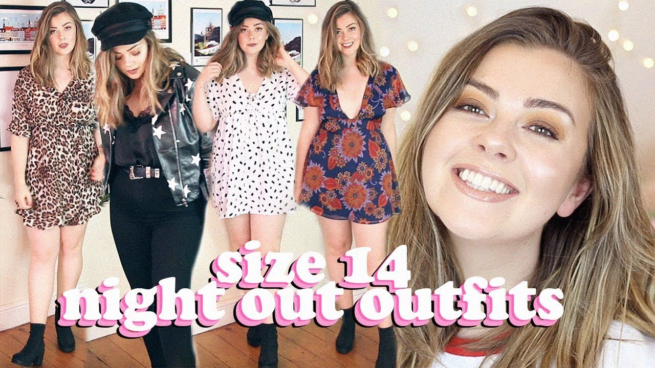 SIZE 14 NIGHT OUT OUTFITS – TRY ON HAUL ASOS, PRETTY LITTLE THING, NASTY GAL | LUCY WOOD