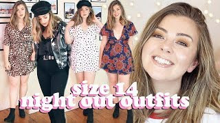 SIZE 14 NIGHT OUT OUTFITS - TRY ON HAUL ASOS, PRETTY LITTLE THING, NASTY GAL | LUCY WOOD