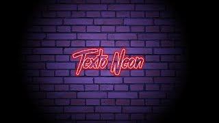 Efeito Neon em texto - Photoshop (Simplificado)