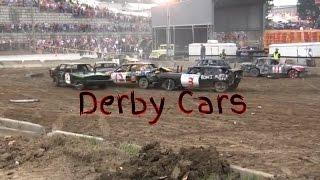 Hard Hitting Demolition Derby. Washington PA Fair Grounds Crashing Cars Bending Metal