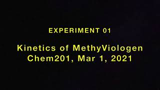 Ex01 Kinetics Methy Viologen   PreLab & PostLab: 2021 Sp