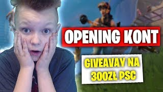 😄 OPENING FORTNITE ACCOUNTS 😄 😱 Kozackie ACCOUNT! 😱 New ACCOUNT Store! 😱 GIVEAWAY AT 300PSC 😱