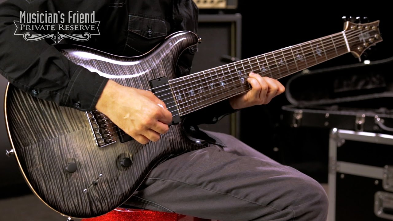 Esp 7 String >> PRS Private Stock Custom 24 8-String Electric Guitar - YouTube