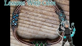Transition between Netted Rope and Tubular Herringbone Jewelry Tutorial - Lessons with Odin: