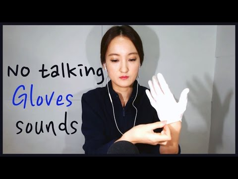 [ASMR]*no talking* Gloves sounds / Latex , Cotton , Vinyl  gloves sounds
