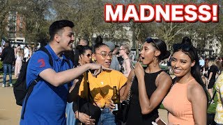 Trick questions with HIGH people! - 420 HYDE PARK EDITION 2018 (MADNESS!!!)