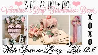 3 DOLLAR TREE + DIY VALENTINE'S DAY PINK FARMHOUSE DECOR | VIDEO COLLABORATION WITH THE WEEKS NEST!