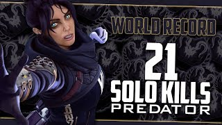 Apex Predator 21 Solo Kills WORLD RECORD! | sYnceDez