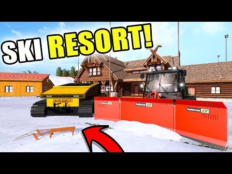 SKI RESORT GROOMING + SLEDDING | WOOD MEADOW FARMS | PISTENBULLY | FARMING SIMULATOR 2017