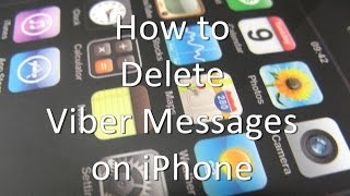 How to Delete Viber Messages on iPhone and iPad