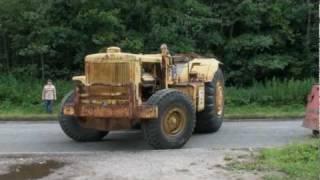 Caterpillar 666 first road trip (largest motor scraper ever built by Caterpillar)
