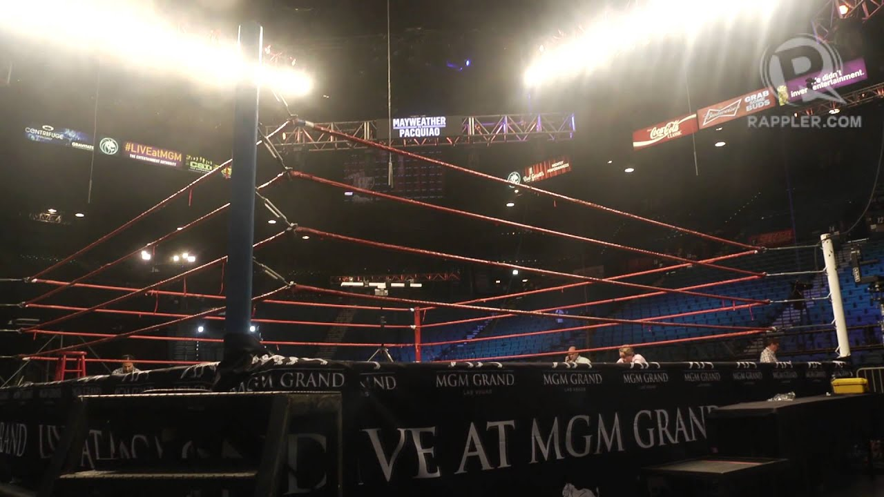 The MGM Grand Garden Arena before fight night