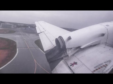 [4K] AIS Airlines Jetstream 31 PH-NCI buzzing & rainy take-off @ Münster-Osnabrück Airport