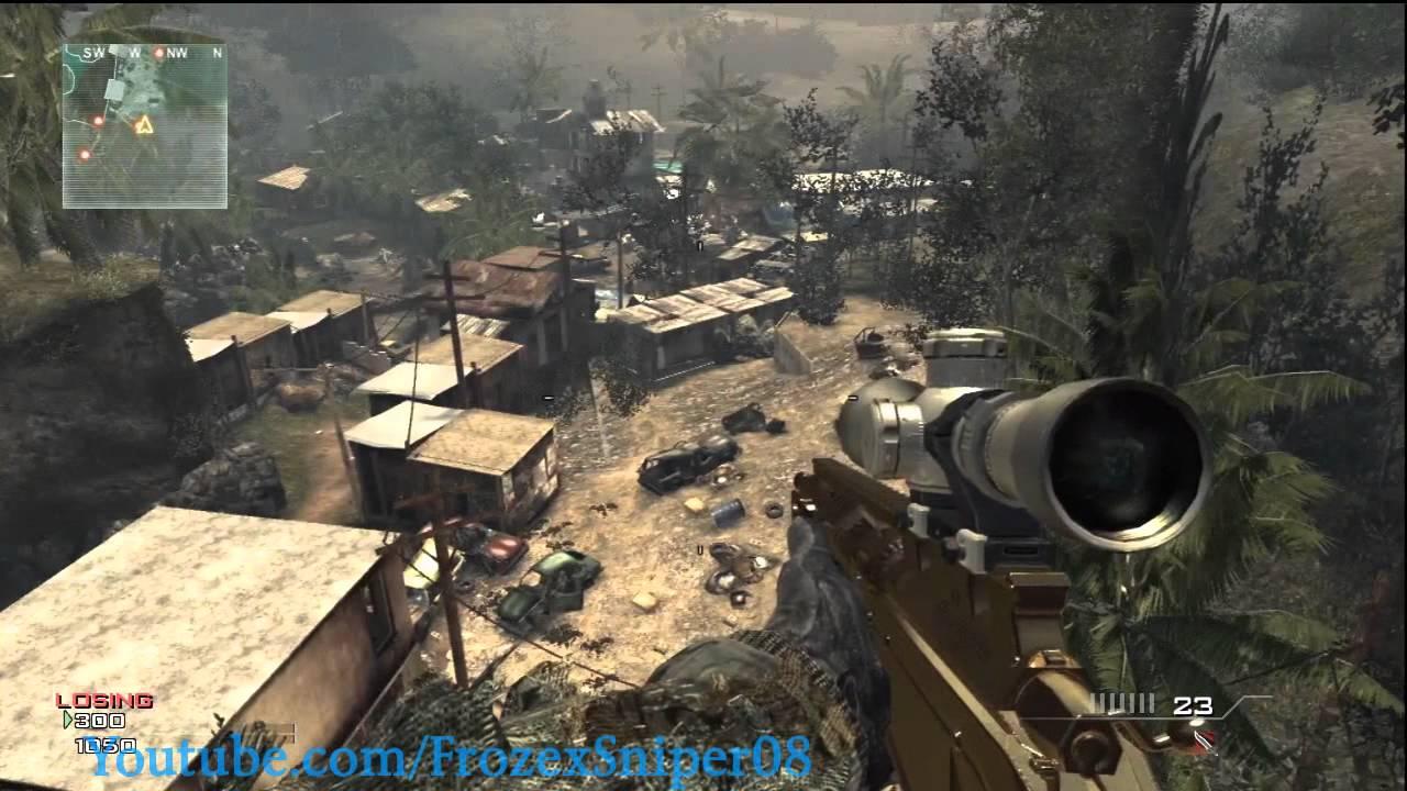CoD Modern Warfare 3: Village Glitch (How to Get Outside & On Top)