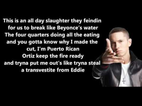 New 2012 Shady 2.0 BET Cypher 2011 - Eminem Feat. Yelawolf & Slaughterhouse // Lyrics On Screen