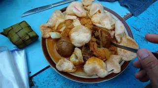 Jakarta street food - Lontong Sayur - Rice Cake - Indonesia culinary | Street Foods Live Streaming