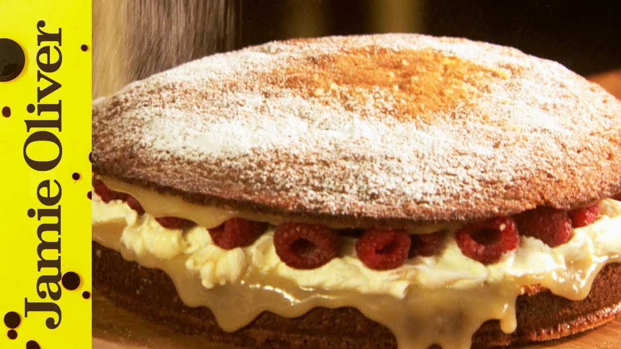 Super simple sponge cake jamie oliver youtube forumfinder