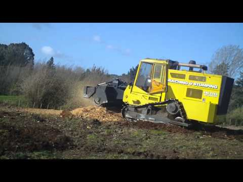 Stump Grinding {cultivator}with Our Tree Eating Mulching Machine