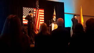 National Anthem  Fimm Miller    Pesentation Of Colors  Santa Fe Fire & Police Departments