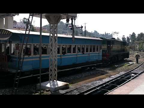 Shunting operations at Coonoor railway station