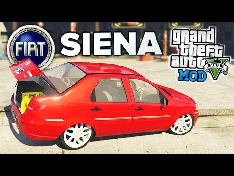GTA V: Fiat SIENA Rebaixado com SOM! MOD Carros Brasileiros