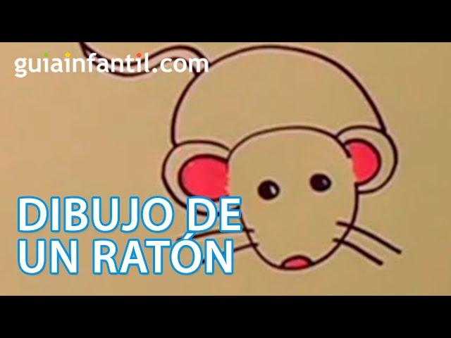 cómo hacer un dibujo de un ratón paso a paso