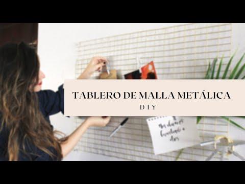 TABLERO MALLA METÁLICA | WIRE MESH BOARD | DIY - ALISHA