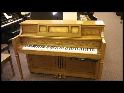 Yamaha MX82 Satin Oak with Disklavier Player system at Schmitt Music Kansas City!