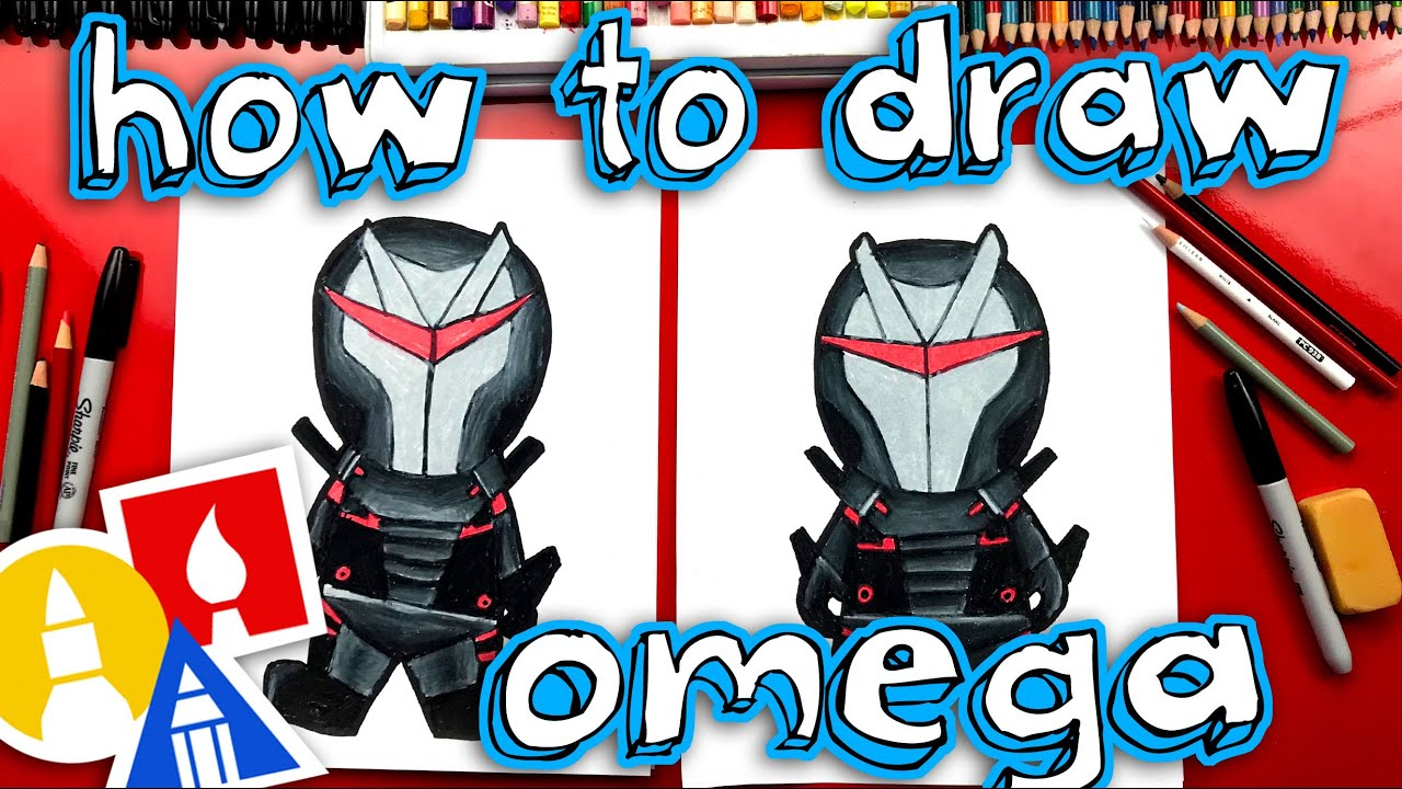 How To Draw Omega Skin Fortnite Skin Cartoon Youtube