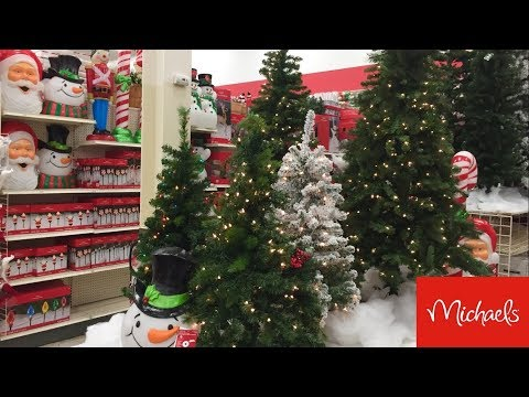 MICHAELS CHRISTMAS DECORATIONS CHRISTMAS 2019 DECOR - SHOP WITH ME SHOPPING STORE WALK THROUGH 4K