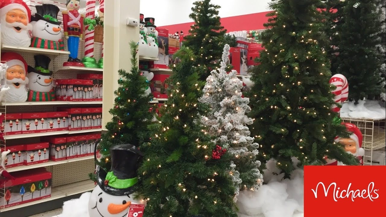 MICHAELS CHRISTMAS DECORATIONS CHRISTMAS DECOR - SHOP WITH ME SHOPPING  STORE WALK THROUGH 6K
