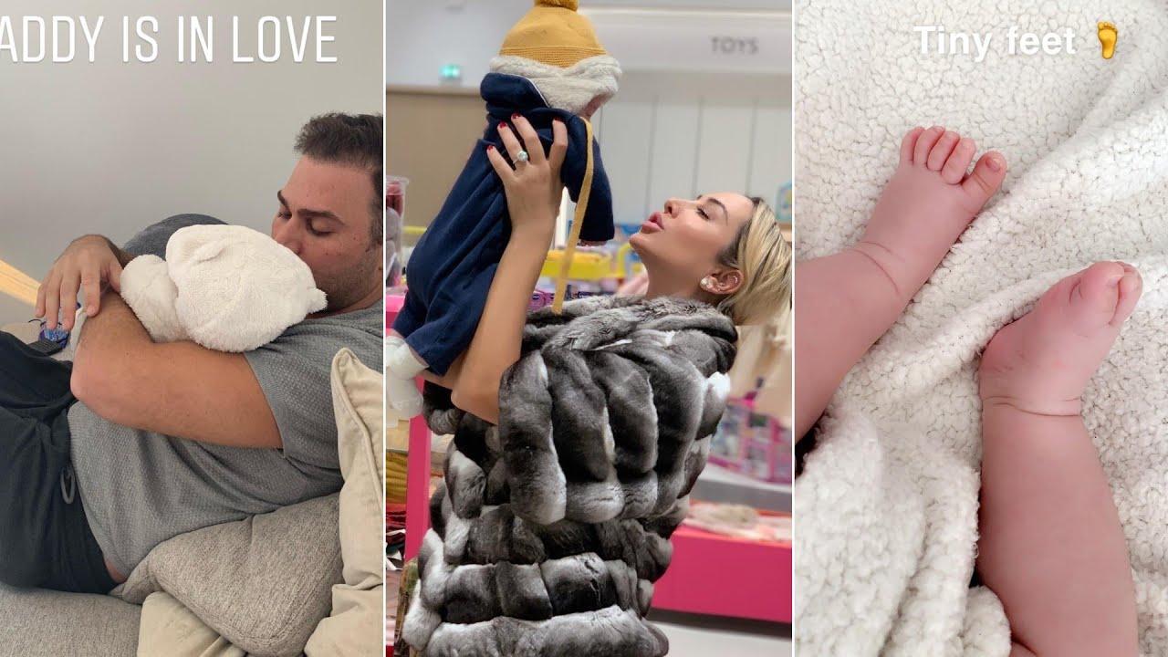 شاهد كيف تقضي جويل يومها مع طفلها الجديد في جو من الحب و امرح