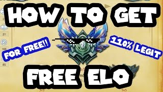 HOW TO GET FREE ELO(Just some random MLG League Vid making fun of