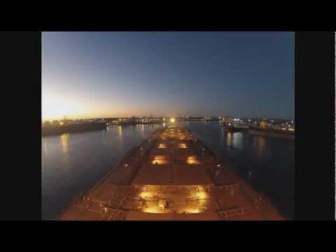 Ship arriving and departing Port Hedland, Western Australia
