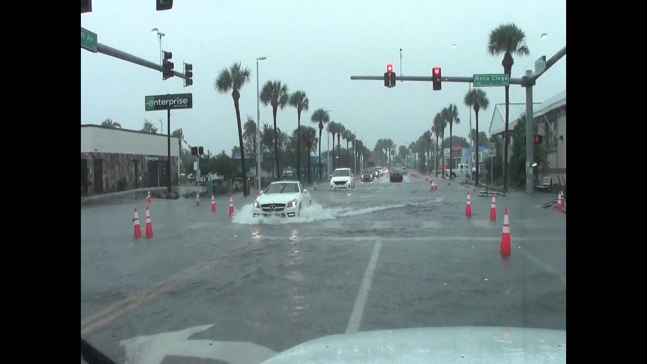 Flooding Saint Petersburg Beach Florida Tropical Storm Hermine