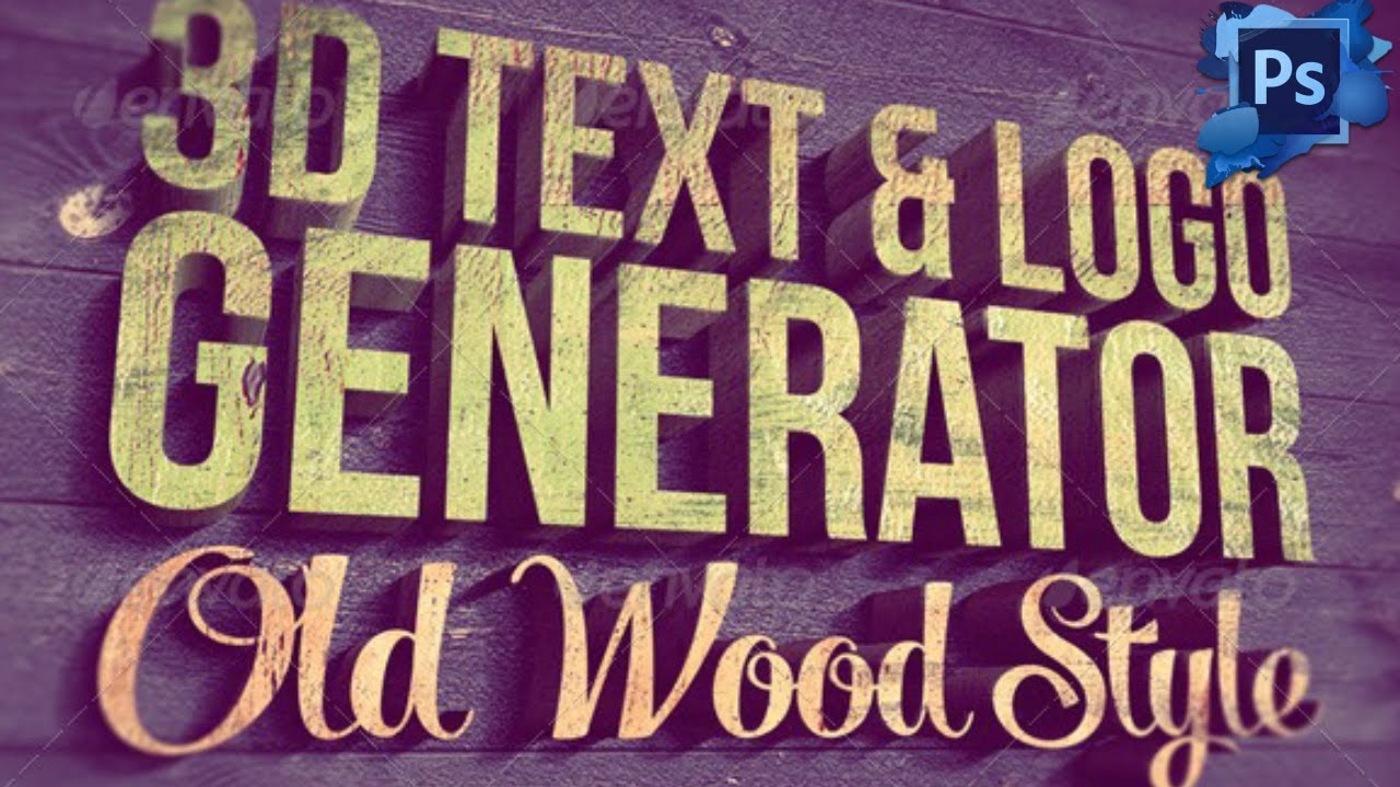3d Text Logo Generator Free For Photoshop