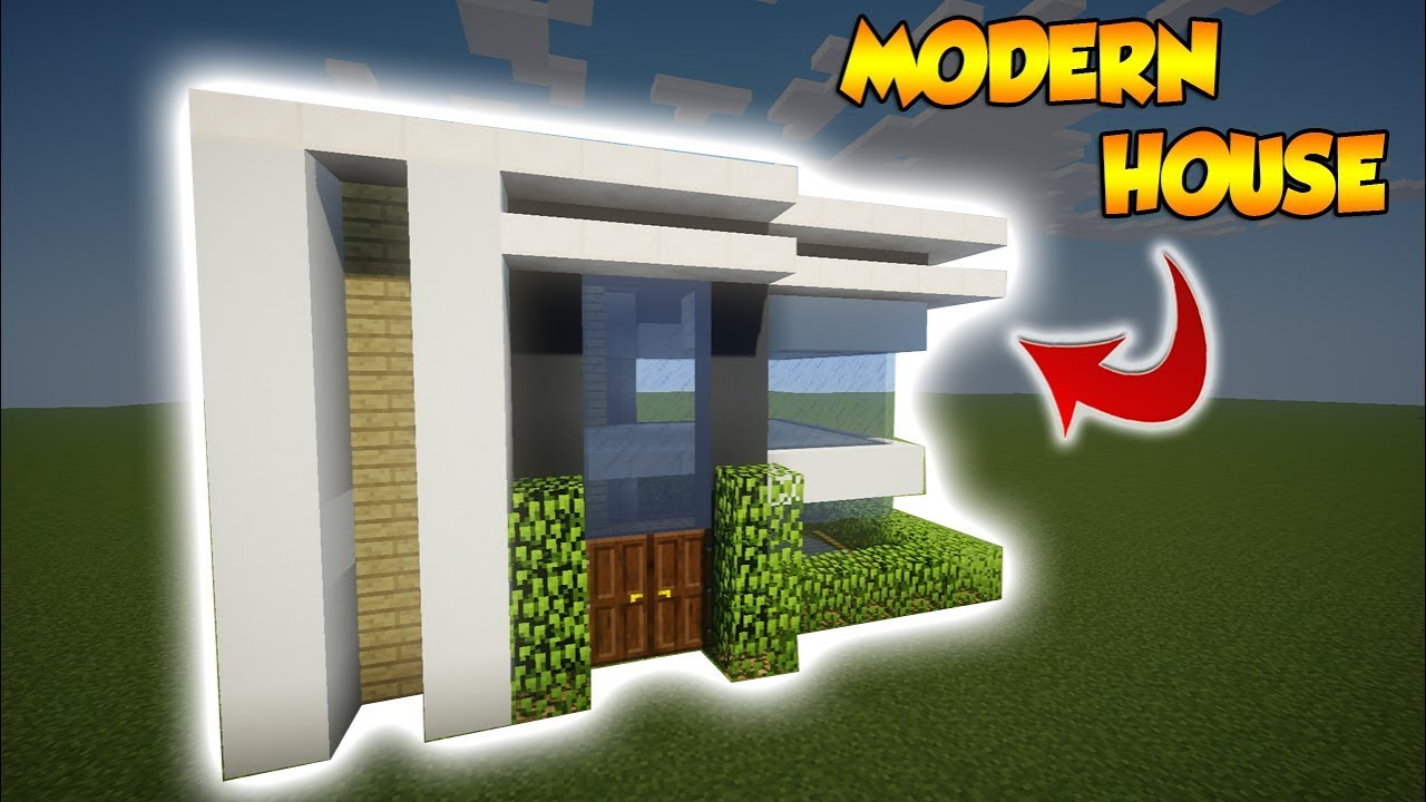 Minecraft Small Modern House Tutorial How To Build A Cool