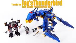 Tutorial for Jay's Thunderbird - Lego Ninjago 70652 Alternate MOC