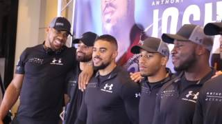 STARTED FROM THE BOTTOM - NOW WE'RE HERE! - ANTHONY JOSHUA & TEAM JOSHUA AHEAD OF ERIC MOLINA CLASH
