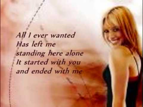 Hilary Duff Break My Heart w/lyrics on screen mp3