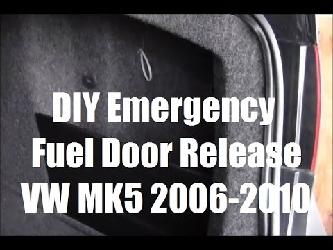 Emergency Manual Fuel Door Release VW Jetta Golf Passat MK5 MKV 2006